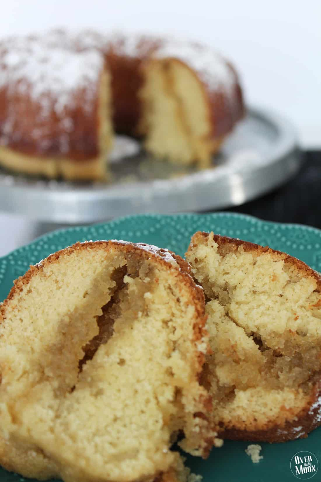 Old Fashioned Homemade Butter Cake - overthebigmoon.com