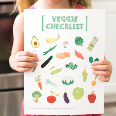 Kids Vegetable Checklist Printable - perfect to help kids get motivated to try new veggies! From www.overthebigmoon.com!