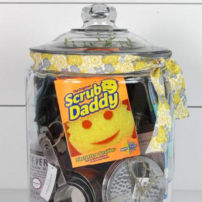 Super fun Kitchen Essentials Gift in a Jar Idea from www.overthebigmoon.com!