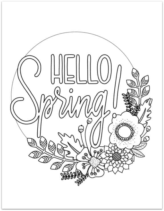 printable spring coloring page - Spring Coloring Pages
