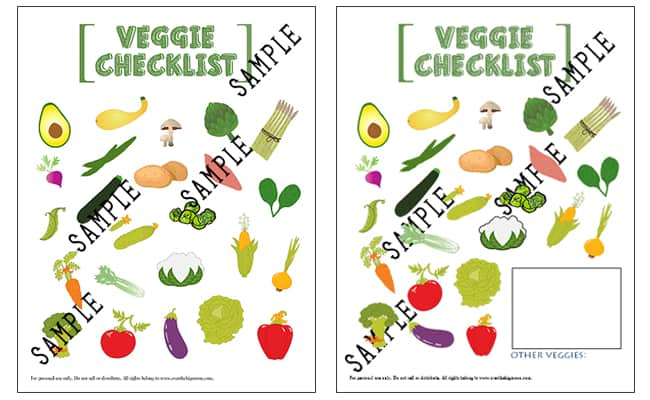 picture regarding Printable Vegetables titled Small children Printable Vegetable List