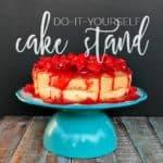 Easy DIY Cake Stand | Such a great DIY | www.overthebigmoon.com