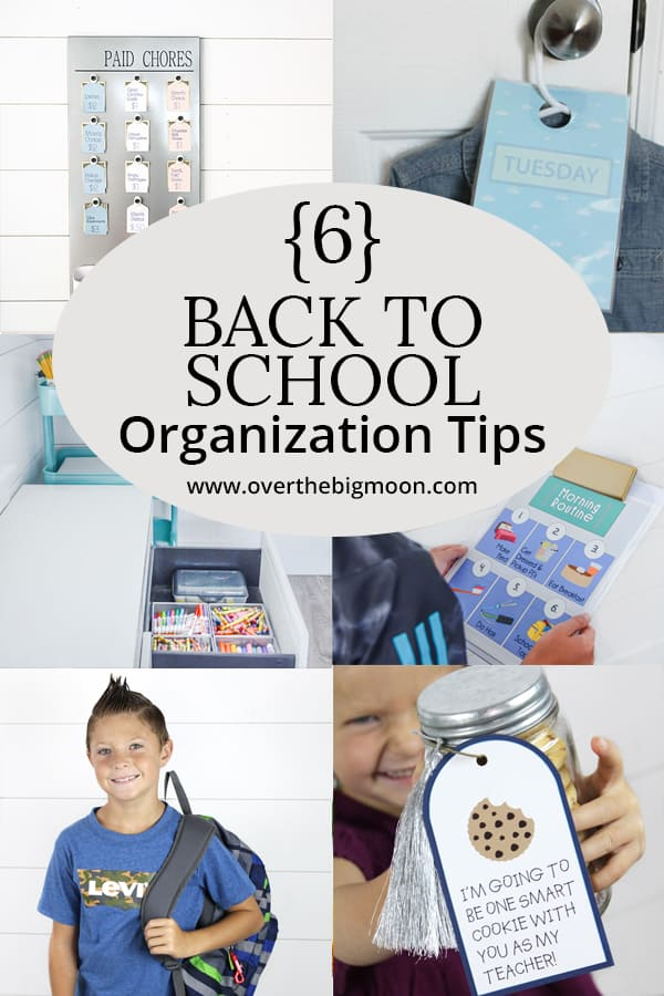 6 back to school organization tips