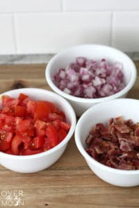 BLT Salad - This is the perfect side salad for a BBQ for party! And the creamy ranch dressing is so tasty!   www.overthebigmoon.com