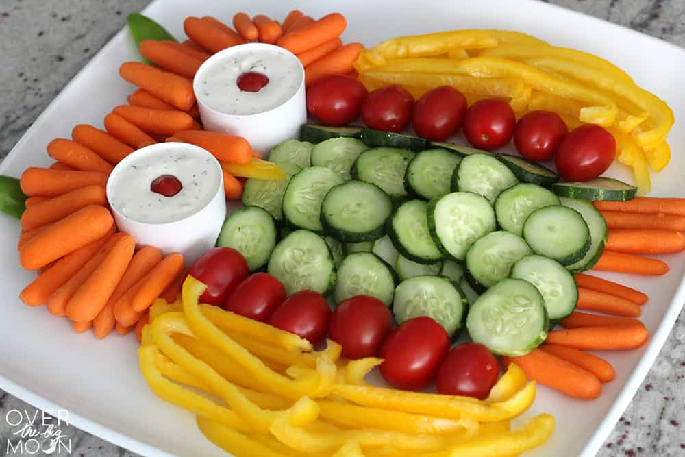 An extra fun way to serve your vegetables during the Fall! From www.overthebigmoon.com