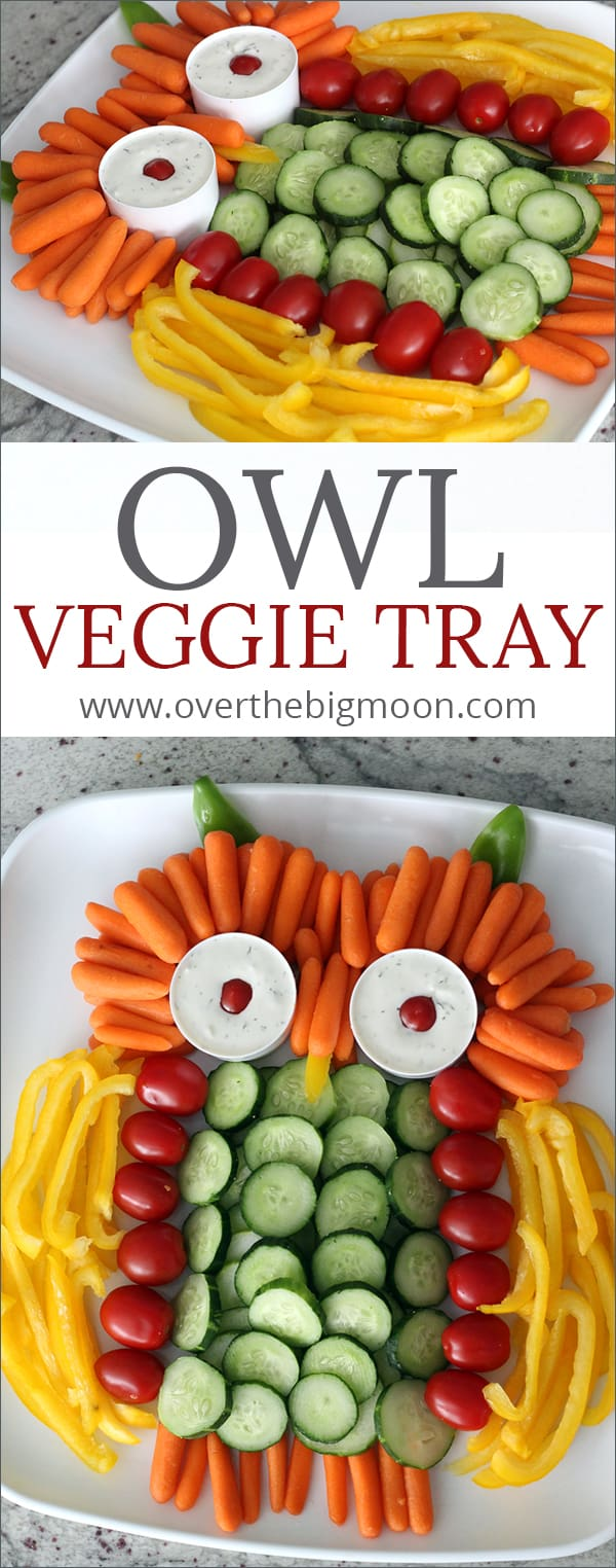 Owl Veggie Tray - Over the Big Moon