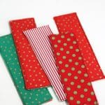 How to Sew Fabric Bookmarks - a super simpel sewing tutorial! From www.overthebigmoon.com!