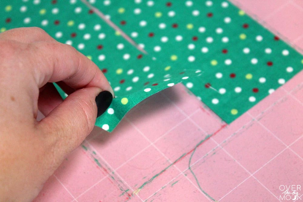 How to make Easy Fabric Bookmarks | www.overthebigmoon.com