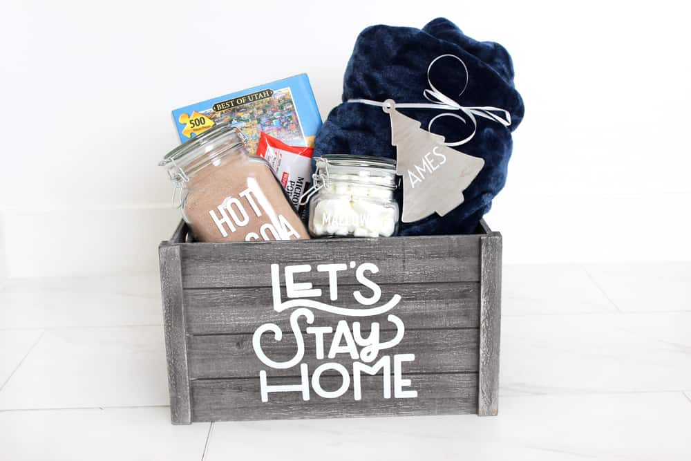 A night in gift basket idea perfect for teachers, friends and more! Plus other fun Teacher Gift Ideas from overthebigmoon.com!