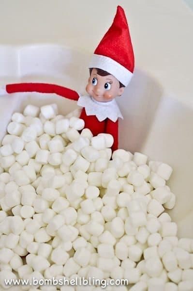 "Elf in a ""Bubble Bath"" in the sink!"