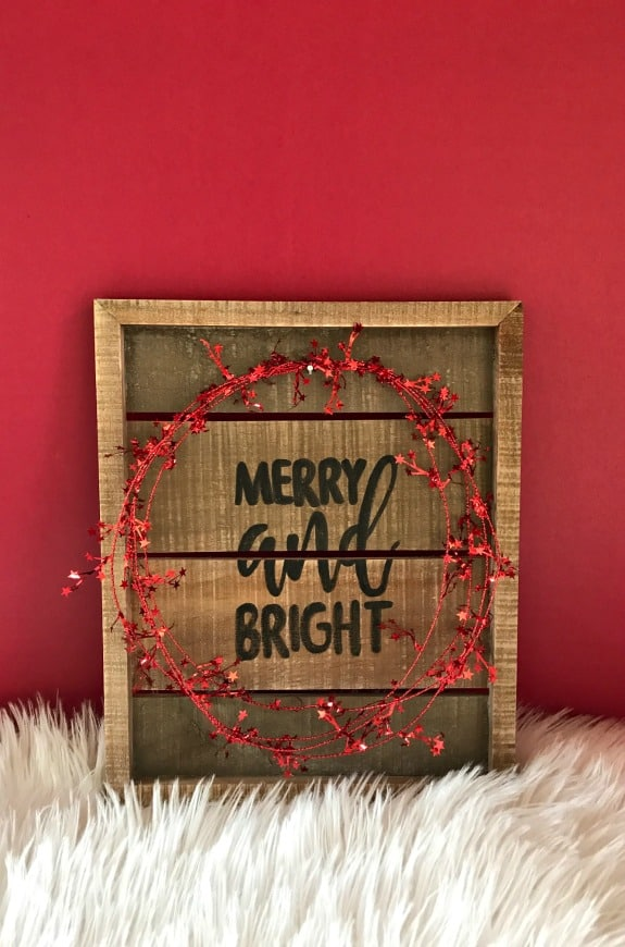 Reversible wood holiday sign
