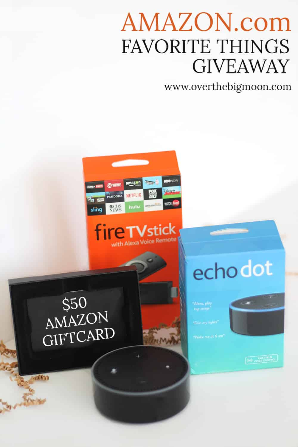 Amazon Giveaway - Amazon Echo Dot, Amazon Fire Stick and $50 Amazon Gift Card!