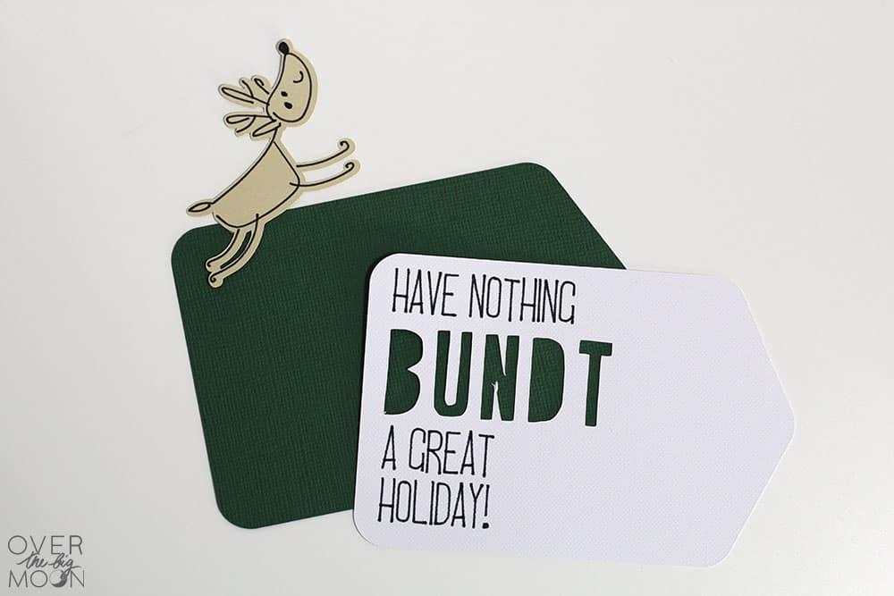 Easy Christmas Bundt Cake Gift Idea using your Cricut Maker or Cricut Explore! From www.overthebigmoon.com!