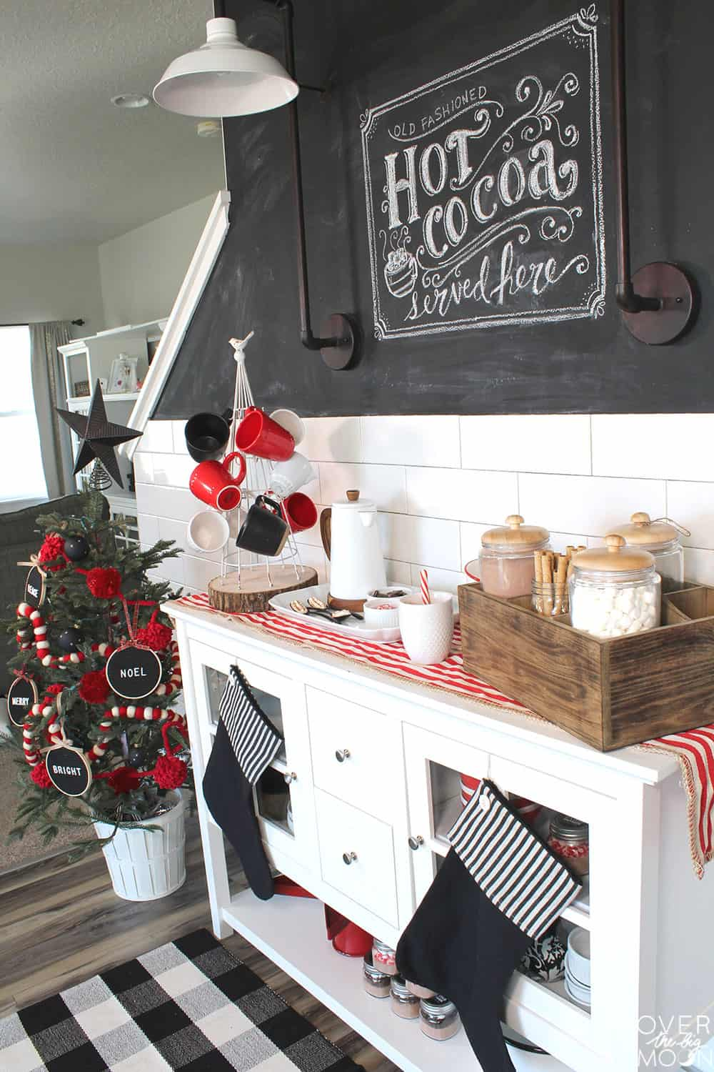 The cutest and easiest little Hot Cocoa Bar setup in all the town! Check out all the details!