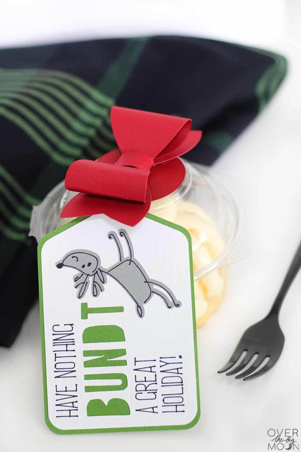 Need a quick gift idea for your friends? Put together this simple Bundt Cake gift idea! It's super cute and easy! From www.overthebigmoon.com