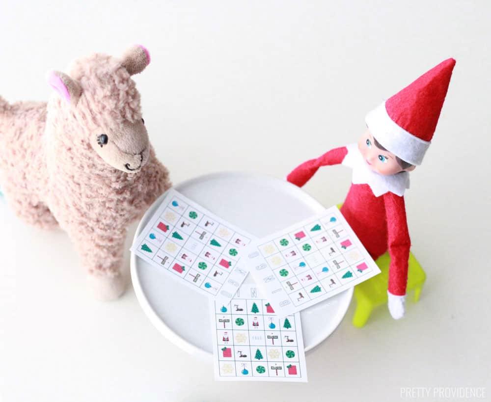 Elf Bingo Sized Cards - sooo cute! From overthebigmoon.com!