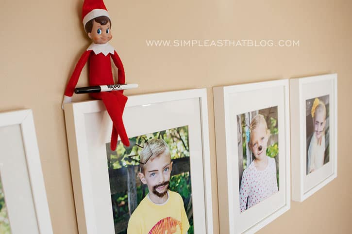 Elf Drawing on Pictures