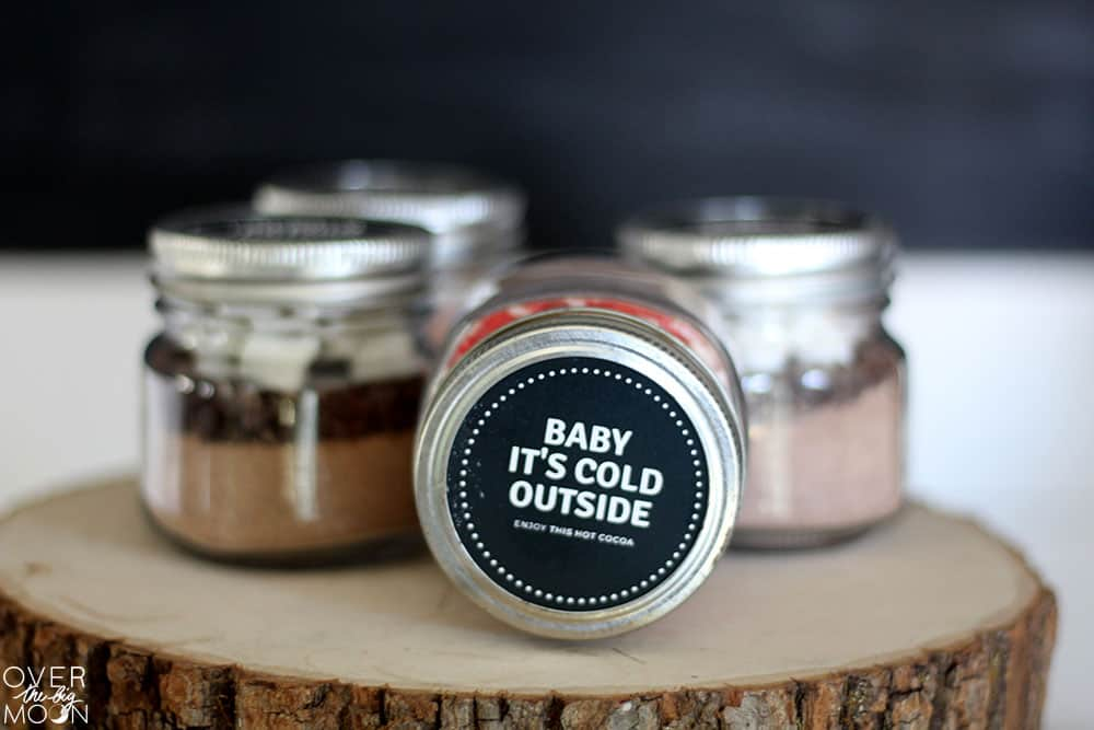 Baby It's Cold Outside - To Go Hot Chocolate Jars!