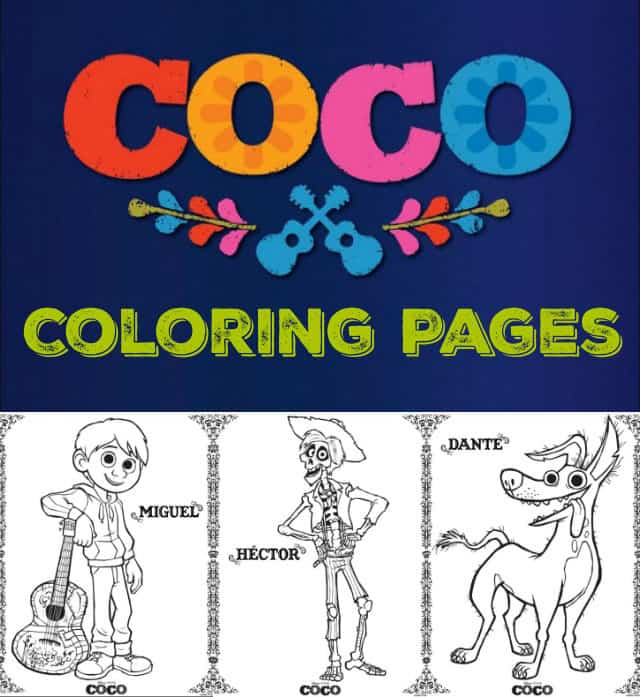Disney Pixar Coco Movie Kids Crafts and Printables from overthebigmoon.com!