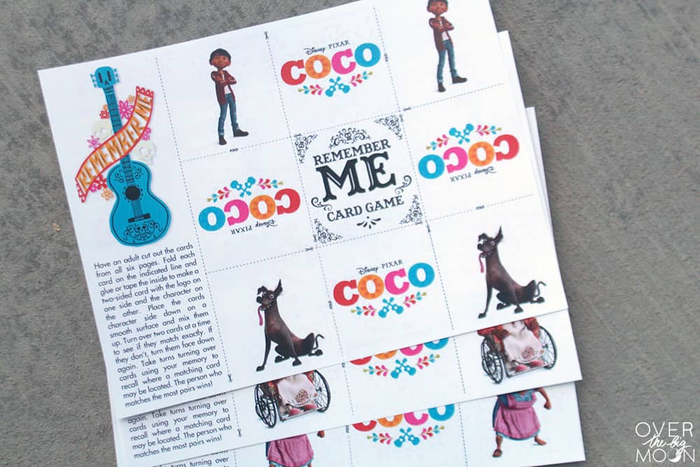 Coco Matching Game for Kids - Free Printable! From overthebigmoon.com!