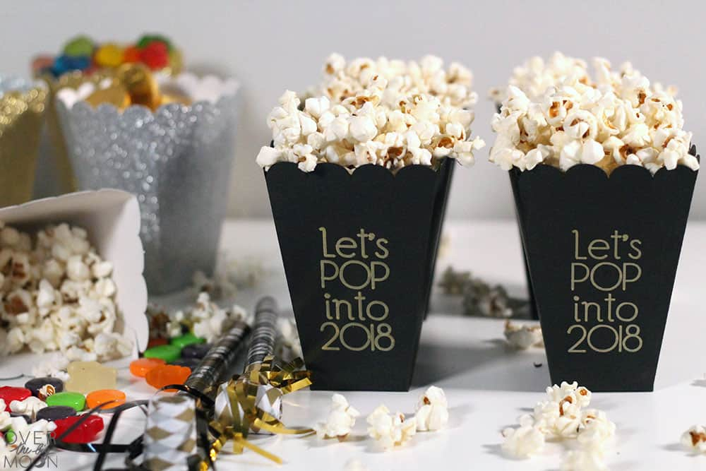 Easy DIY Popcorn and Treat Boxes made using my Cricut! From overthebigmoon.com!