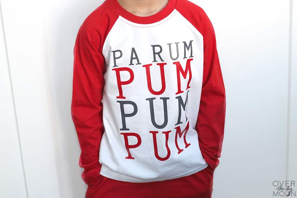 Easy Kids Christmas Pajamas using Heat Transfer Vinyl! From overthebigmoon.com!
