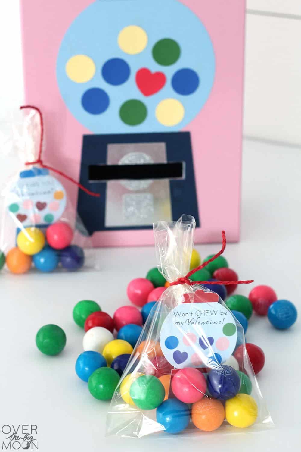Gumball Valentine's Day Box and Valentine's from overthebigmoon.com!