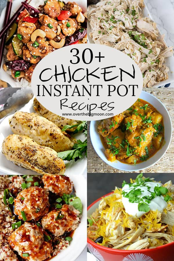 Chicken Instant Pot Meals for the whole family! These are all so beyond tasty! From overthebigmoon.com!