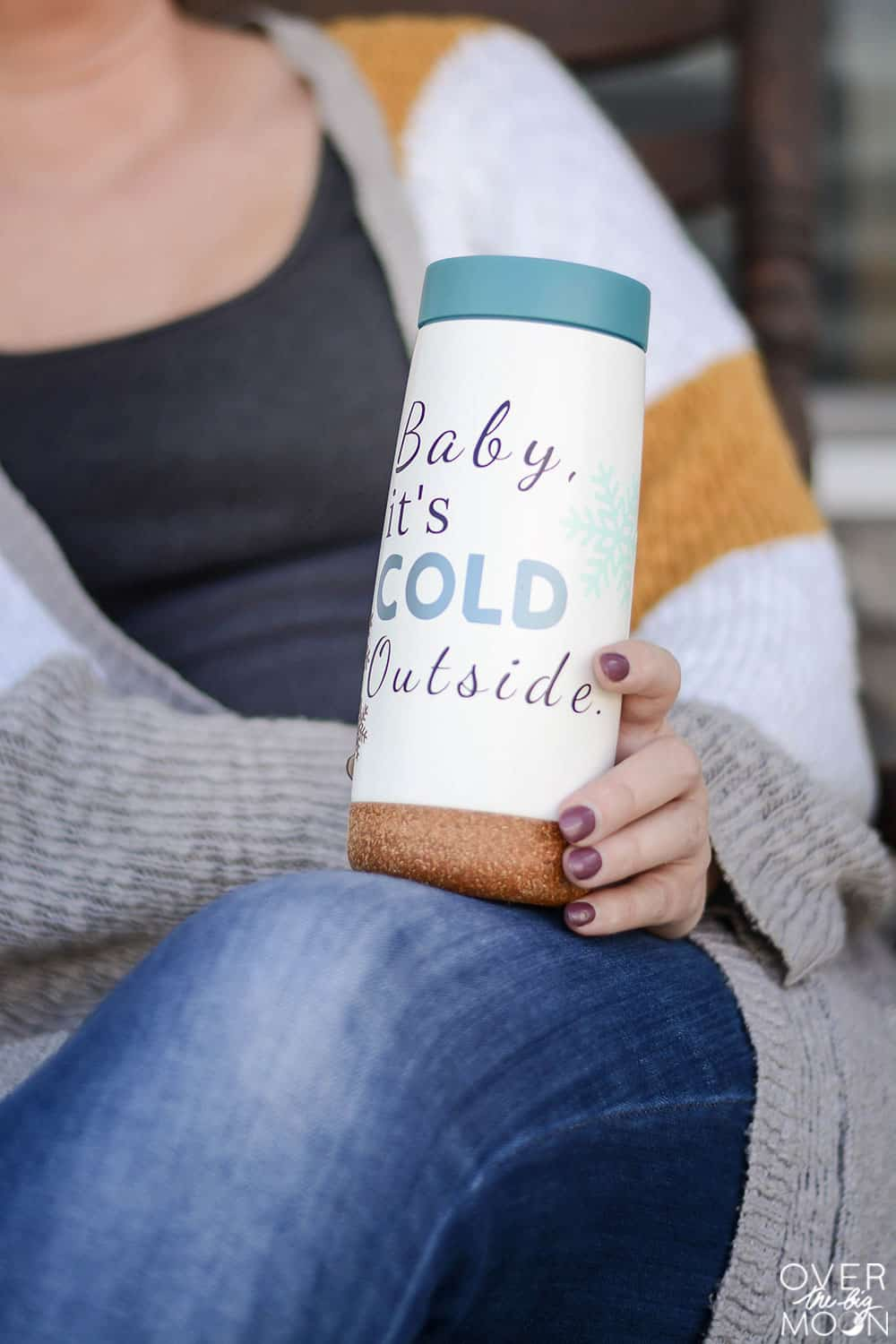 Vinyl Designs for Tumblers - 10 designs perfect for moms! From overthebigmoon.com #cricutmade #cricut #vinyl #babyitscoldoutside #tumblers