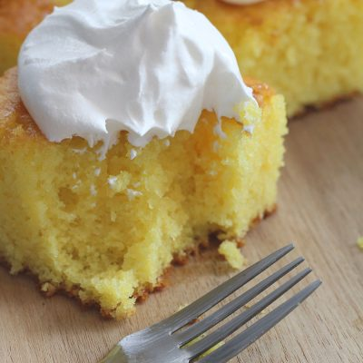 Lemon Jello Cake - the perfect summer cake! Light and fluffy and full of flavor! From overthebigmoon.com!
