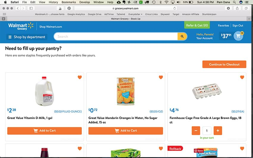 Online Grocery Shopping - yes please! Check out Walmart Curbside Grocery Pickup!