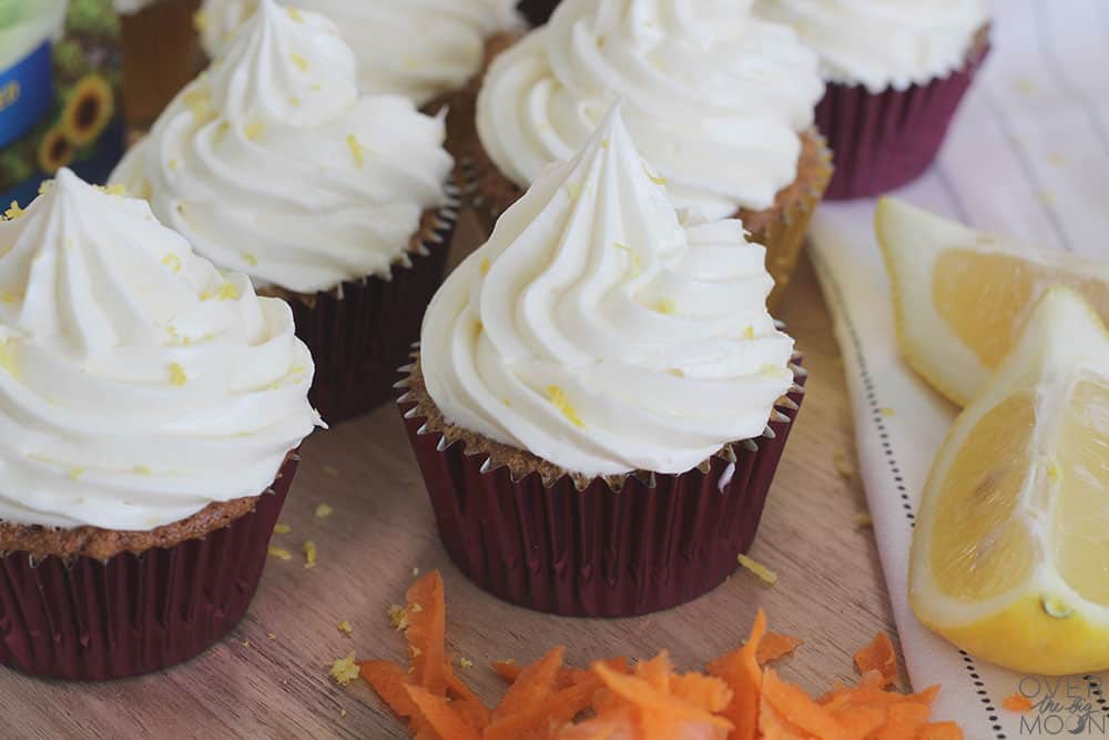 The ultimate carrot cake cupcakes - the perfect Easter treat! From overthebigmoon.com!