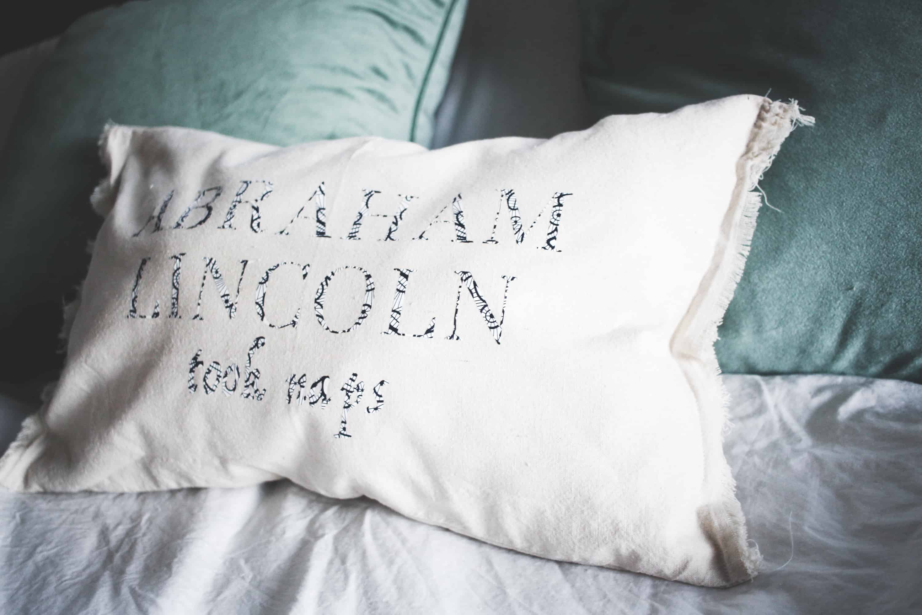 diy decorative pillow with cricut - over the big moon Making Decorative Pillows