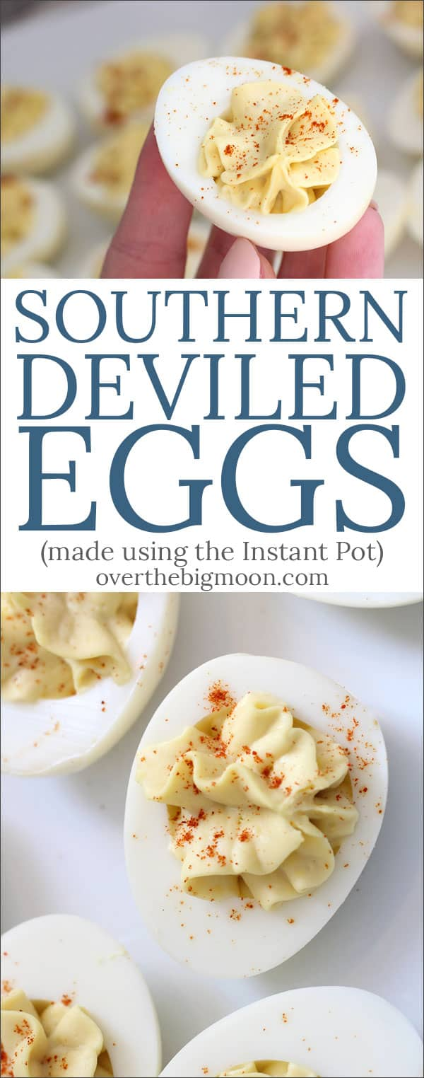 These aren't your standard deviled eggs. These Southern Deviled Eggs are perfect for holidays, tailgate parties, BBQ's or even just Sunday dinner! Cooking the eggs in the Instant Pot makes them easier than ever!