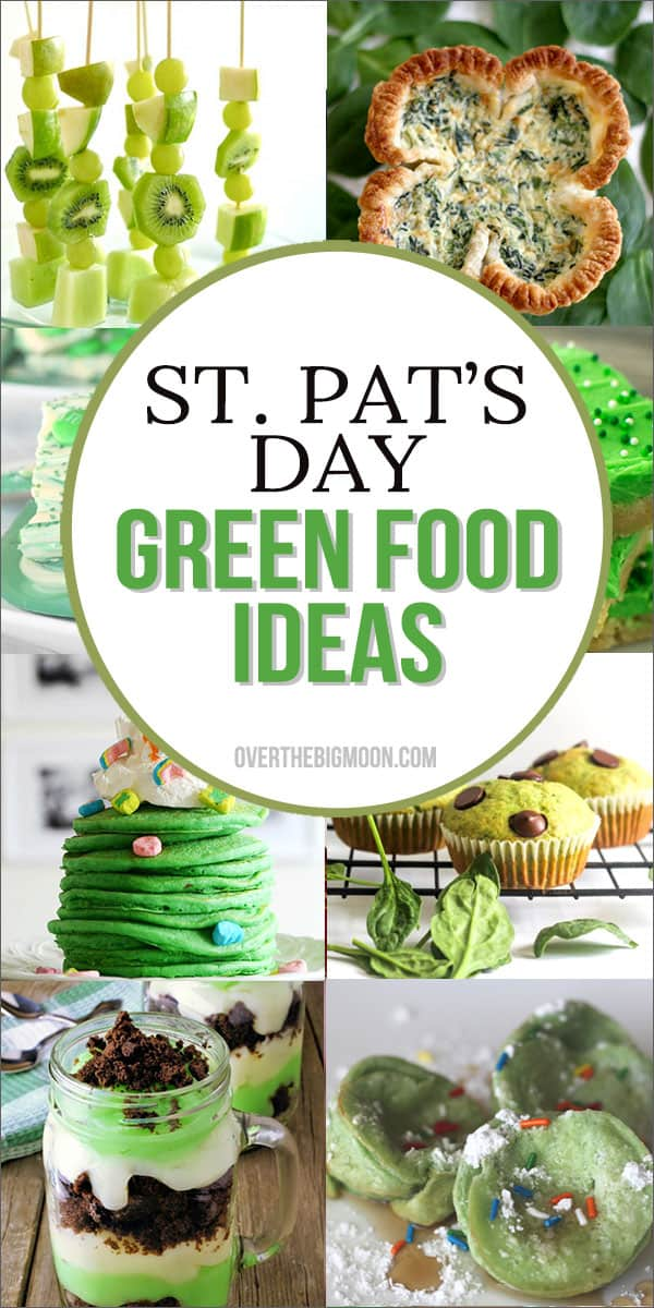 St patricks day green food ideas over the big moon making green or themed foods on st patricks day is such an easy and fun forumfinder Images