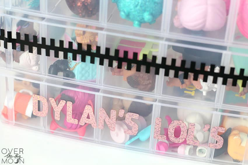 LOL Doll Container for organization! From overthebigmoon.com!