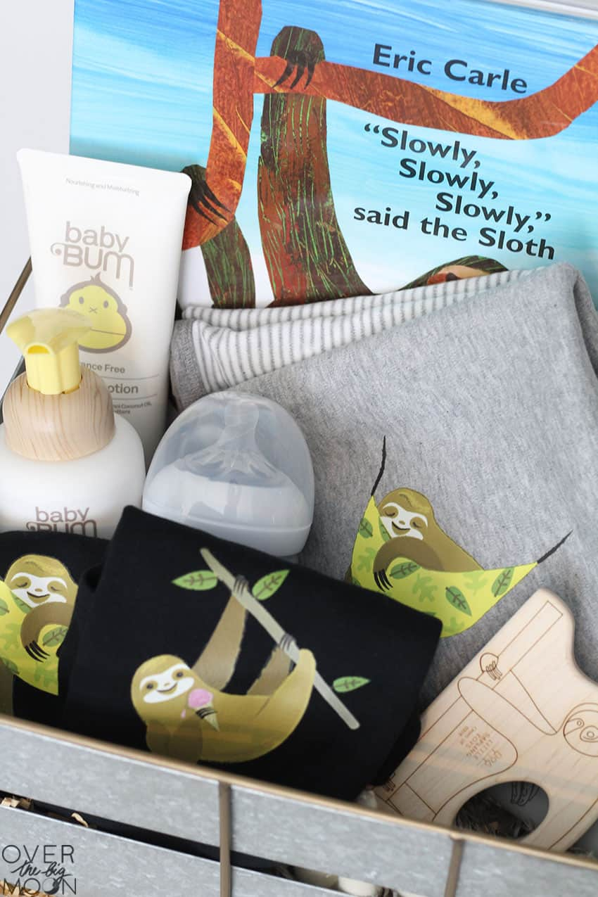Sloth Baby Gift Idea - from overthebigmoon.com!