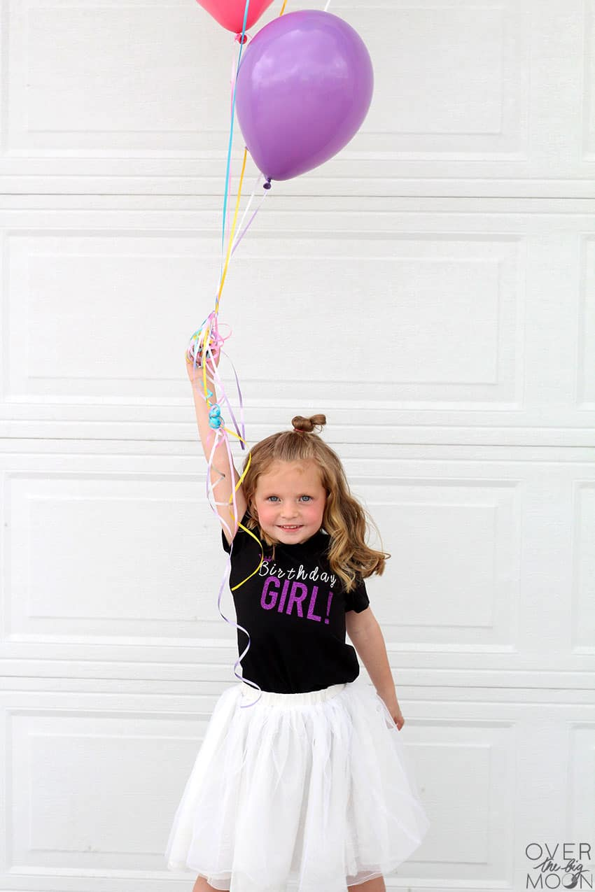 There's no better way to celebrate a birthday then to have a custom birthday shirt! Come check out this fun design and tutorial! From overthebigmoon.com!