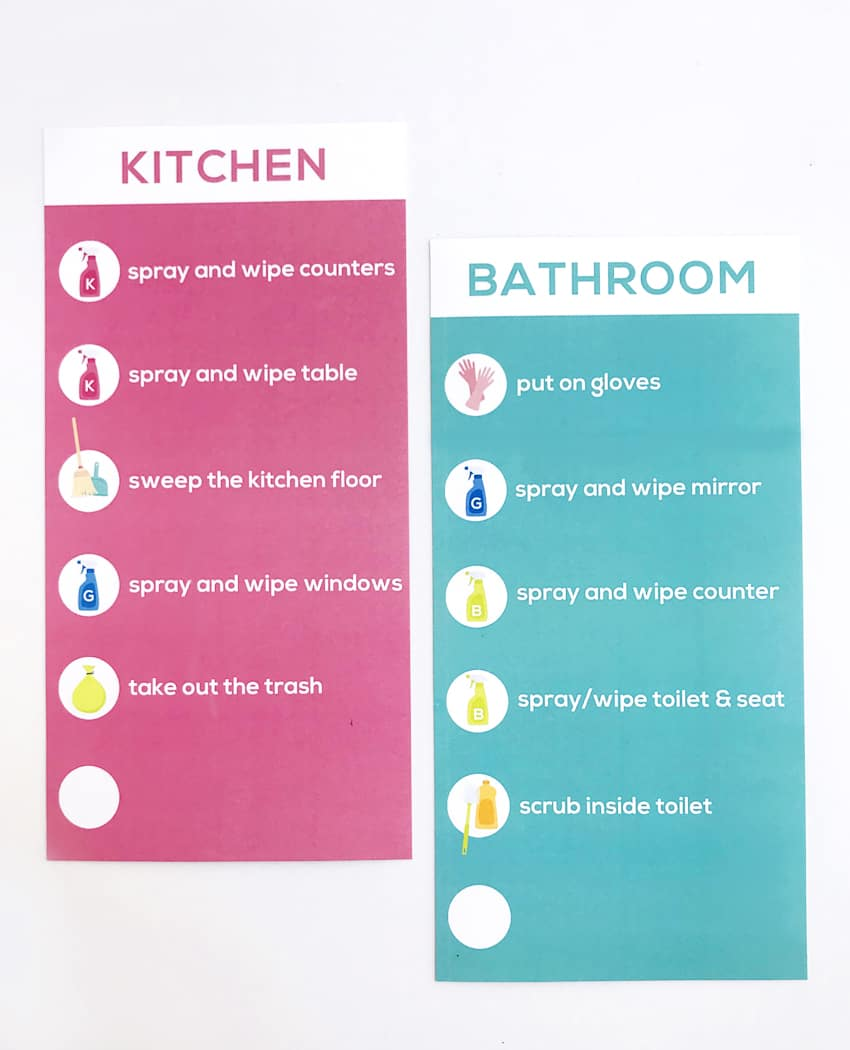 Kids Cleaning Checklist Printables - Over The Big Moon