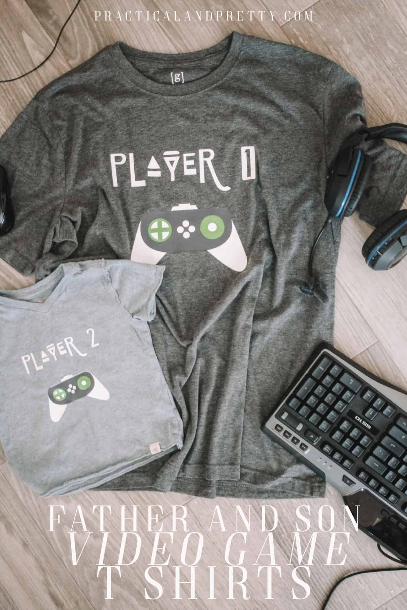 Make a matching set of shirts for your favorite video game playing father and son using your Cricut! You can make these for any age duo.