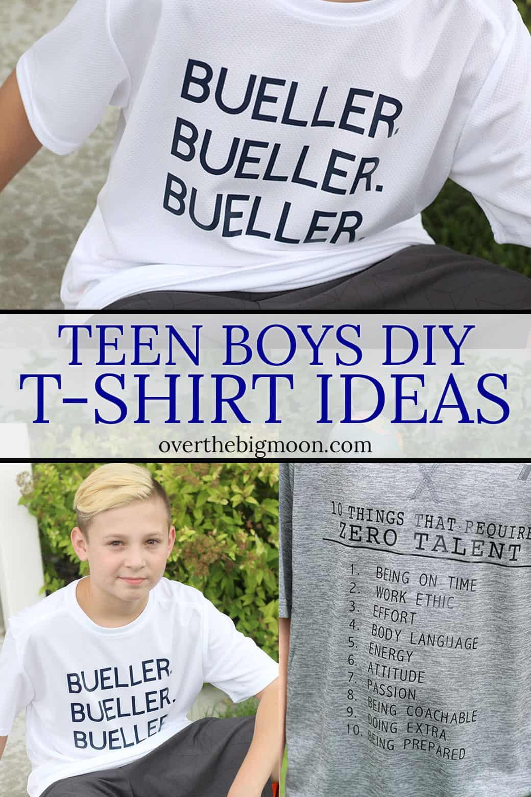 Teen Boys DIY Shirt Ideas for Iron On - www.overthebigmoon.com!