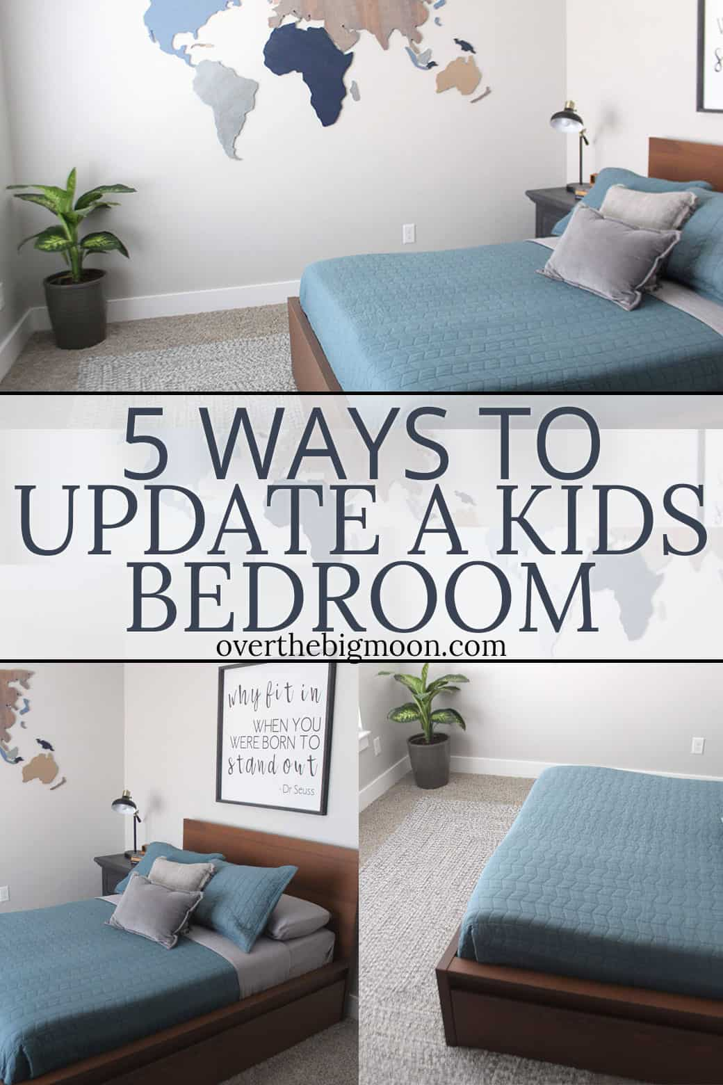 5 Simple Ways to Update a Bedroom -- all these ideas can make a big difference, without breaking the bank! From overthebigmoon.com!