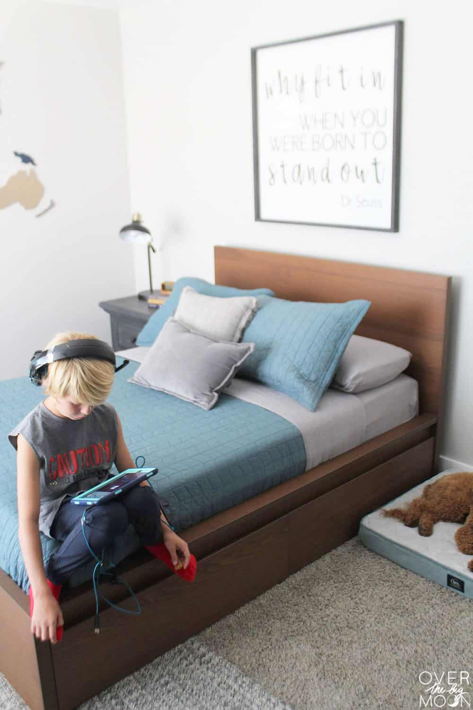 An easy BIG BOY bedroom update! From overthebigmoon.com!