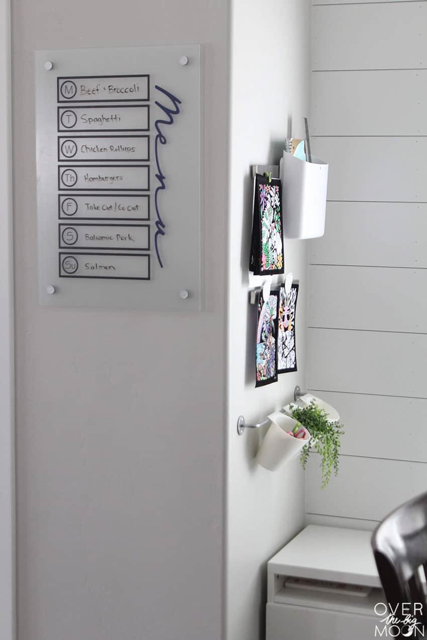 Simple and Easy Menu Board Idea from overthebigmoon.com!