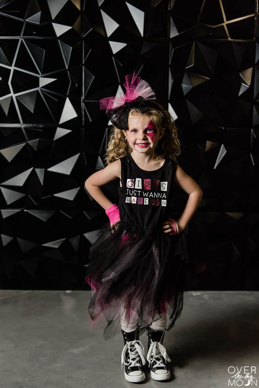 Girls Just Wanna Have Fun Girls Costume - perfect for Halloween or dress up! From overthebigmoon.com!