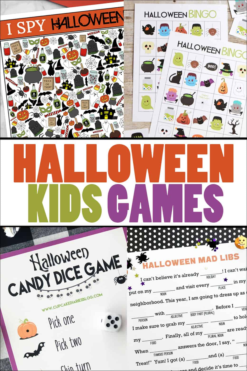 Halloween Printable Kids Games - print off some fun games to help celebrate the Halloween season! From overthebigmoon.com!