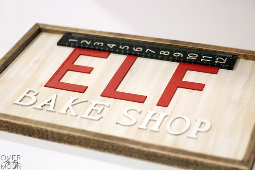Wooden Elf Bake Shop Sign from overthebigmoon.com!