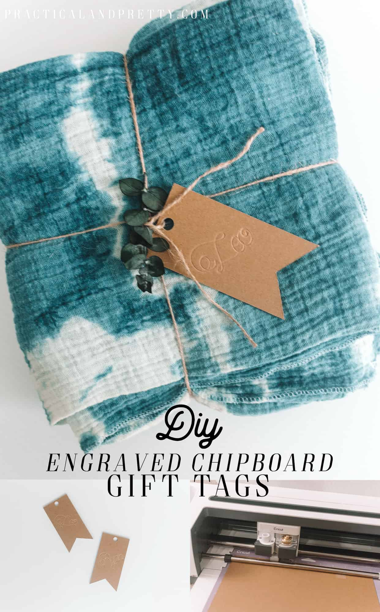 Your Cricut scoring wheel is the perfect engraving tool and I show you how with this engraved chipboard gift tags tutorial!