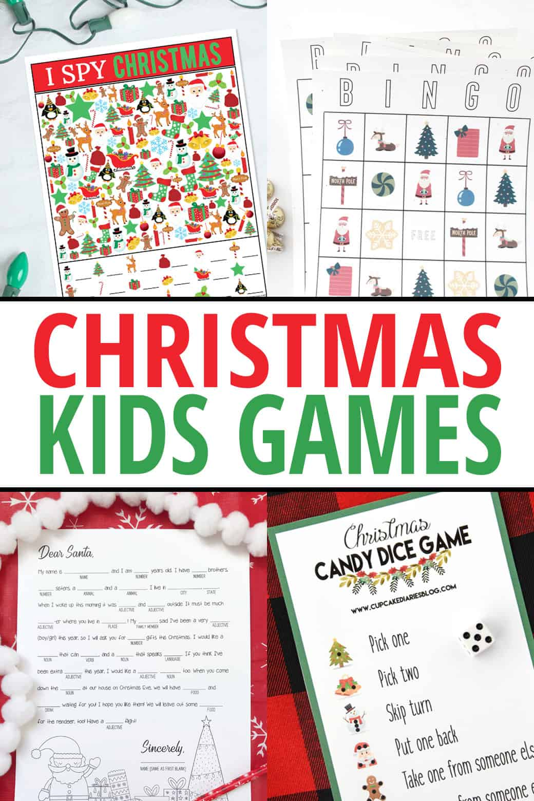 Kids Printable Christmas Games - some fun activities to help you celebrate the Christmas Holiday!