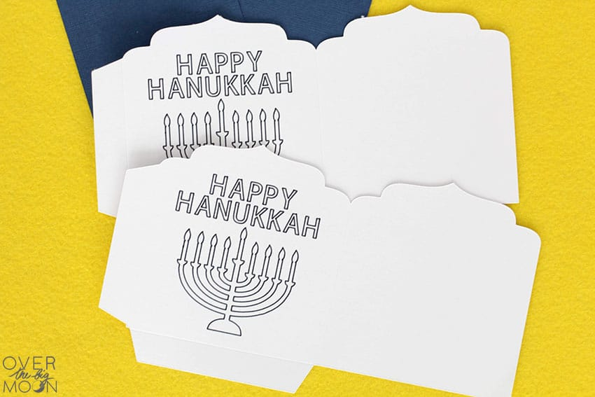Files done for the Hanukkah Crayon Holders! From overthebigmoon.com!